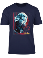 Marvel Infinity War Black Widow Geo Portrait Graphic T Shirt