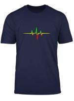 Reggae Herzschlag Puls Frequenz Musik Welle Farben T Shirt
