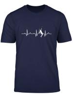 Herzschlag Tennis Spieler T Shirt Ekg Sport Geschenk