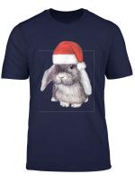 Hangeohr Kaninchen Das Einen Weihnachtsmann Hut Tragt T Shirt