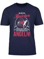 Echte Madchen Angeln Angler Spruche Fischer Geschenk Damen T Shirt