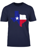Texas Map With Flag T Shirt