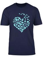 Heart Love Turtles T Shirt For Men Women Kid