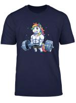 Mens Womens T Shirt Tee Muscle Unicorn Weightlifting