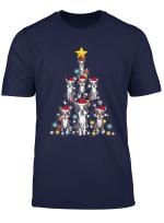 Santa Boston Terrier Christmas Tree Light T Shirt