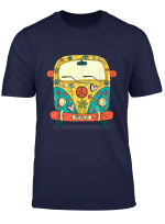 Vintage Hippie Van Flower Bus With Peace Sign Gift 60S 70S T Shirt