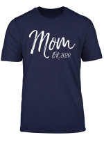 Cute Pregnancy Reveal Idea For Mothers Cute Mom Est 2020 T Shirt