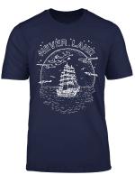 Disney Peter Pan Fly To Never Land Ship Line Art T Shirt
