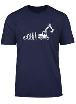 Bagger Evolution Baggerfahrer Baustelle Bauarbeiter T Shirt