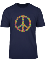 Damen Flower Power Peace Hippie 60Er 70Er Jahre Shirt Fur Frauen