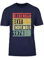 Legendar Seit November 1978 41 Geburtstag Vintage T Shirt