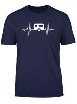 Wohnwagen Mit Ekg Frequenz T Shirt
