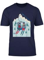 Baren Mit Skier Im Ski Lift Im Gebirge Weihnachten Geschenk T Shirt