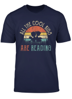 All The Cool Kids Are Reading Book Vintage Reto Sunset T Shirt