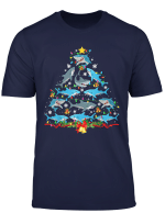 Shark Christmas Tree Funny Shark Lover Christmas Gifts T Shirt