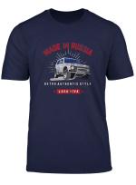 Lada Niva Made In Russland T Shirt Autoliebhaber 4X4 Shirt