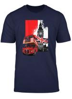 Souvenir London T Shirt City Bus Vintage Uk Flag British Tee