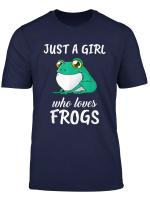 Damen Just A Girl Who Loves Frogs Kleidung Geschenk Frosch T Shirt