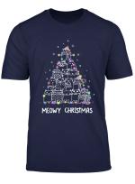 Meowy Cat Christmas Tree Shirt Funny Xmas Gift Men Women T Shirt
