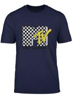 Checkered Mtv Logo Checkerboard Print T Shirt