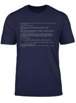 Blue Screen Of Death Pc Classic Geek Halloween Costume T Shirt