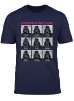 Star Wars Expressions Of Darth Vader Funny T Shirt