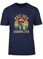 Womens Best Dog Grandma Ever Staffordshire Bull Terrier Mothers Day T Shirt
