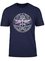Dragonfly Mystical Multicolor Spiritual Mandala T Shirt T Shirt