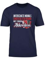 Herren T Shirt Akkordeon Instrument Ziehharmonika Spruch
