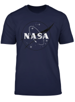 Nasa Black And White Simple Logo Graphic T Shirt
