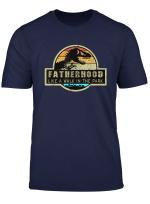 Fatherhood Like A Walk In The Park T Shirt Dad Retro Sunset