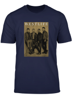 Westlife Official Brown Photo T Shirt