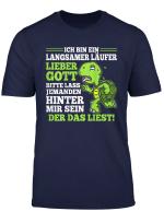 Langsamer Laufer Laufen Schildkrote Halbmarathon Joggen Lauf T Shirt