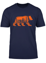 Chicago Football Skyline Walking Bear Vintage Illinois Gift T Shirt