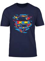 Kids Superhero Autism Awareness Tshirt Heart Autism Boy Girl