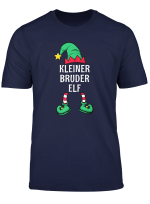 Herren Kleiner Bruder Elf Partnerlook Familien Outfit Weihnachten T Shirt