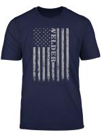 Mens Welders Vintage American Flag Welder Mig Gift T Shirt