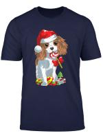 Cute Cavalier King Charles Spaniel Dog Christmas T Shirt