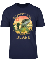 Vintage Respect The Beard Sunset City Reptile Bearded Dragon T Shirt