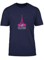 Women Girl Soccer Usa Tshirt France 2019 Cup Tee T Shirt