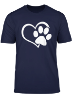 Dog Cat Shirt I Love Dogs Paw Print Heart Cute
