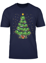 Cabbage Vegetable Lover Xmas Gift Cabbage Christmas Tree T Shirt