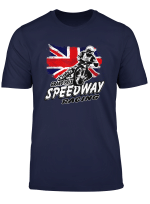Motorcycle Speedway Racer Union Jack T Shirt Flat Track