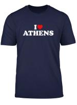 Ich Liebe Athens Herz T Shirt