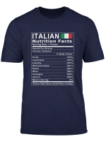 Italian Nutrition Facts T Shirt
