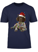 German Shorthaired Pointer Christmas Tree Santa T Shirt T Shirt