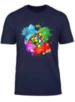 Watercolor Retro Vintage Rubik Cube Math Shirt