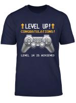 Level 14 Ist Level Up Erreicht 14 Jahre Altes Gamer Shirt