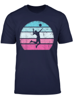 Volleyball Girl Retro Vintage T Shirt