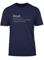 Lustiges Flugzeug Pilot Worterbuch Definition Geschenk T Shirt